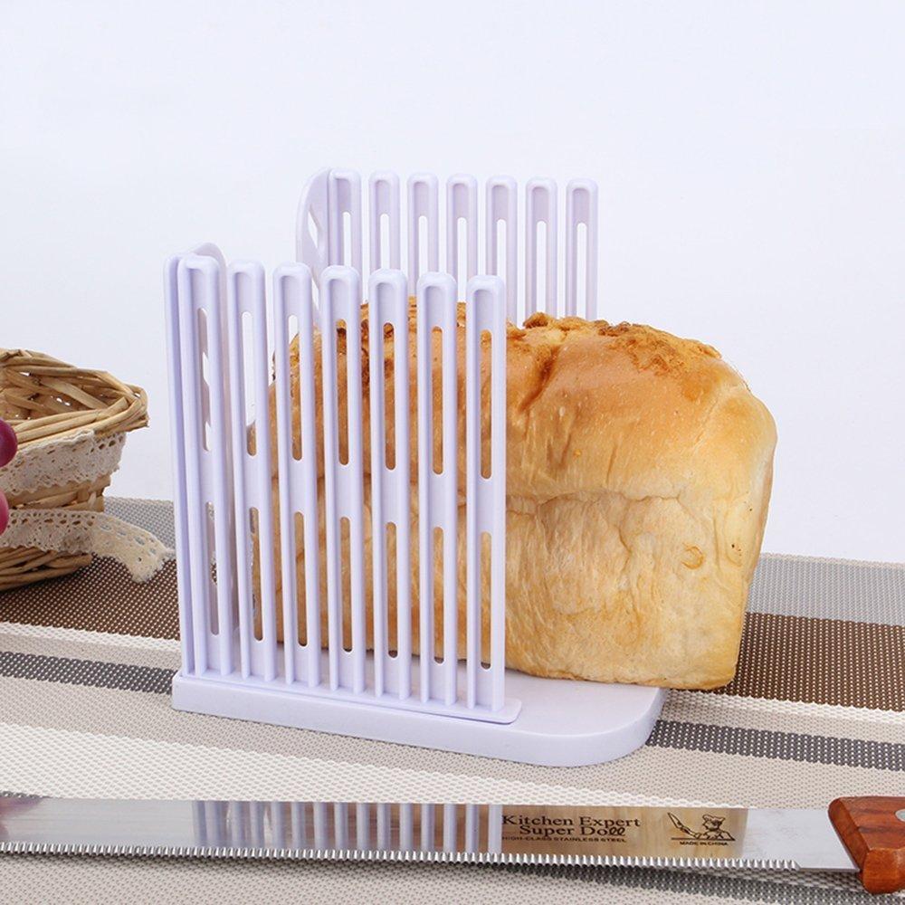 Compra Pan molde para tostadas MyLifeUNIT plegable de cóctel para hacer cortador de cuchillo rebanador de para guía de corte Kitchen en Amazon.es