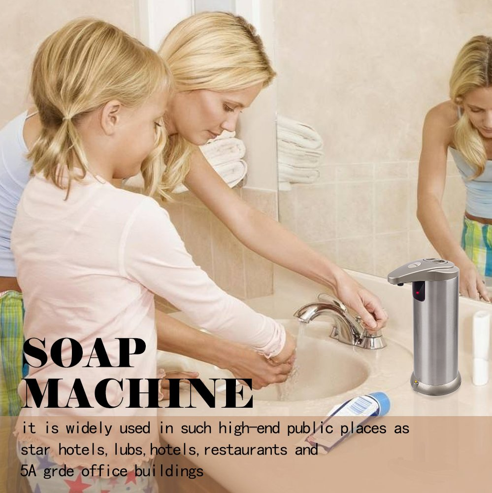 Cakie Soap Dispenser Stainless Steel Automatic Shampoo Circuit Board Plastic Lotion Select Size Potty Box With Waterproof Base Ir Sensor For Kitchen Bathroom Office School