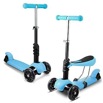 Buysyall ® Patinetes Scooter Scoot&Ride para Niños Niñas de 3-10 Años, con 3
