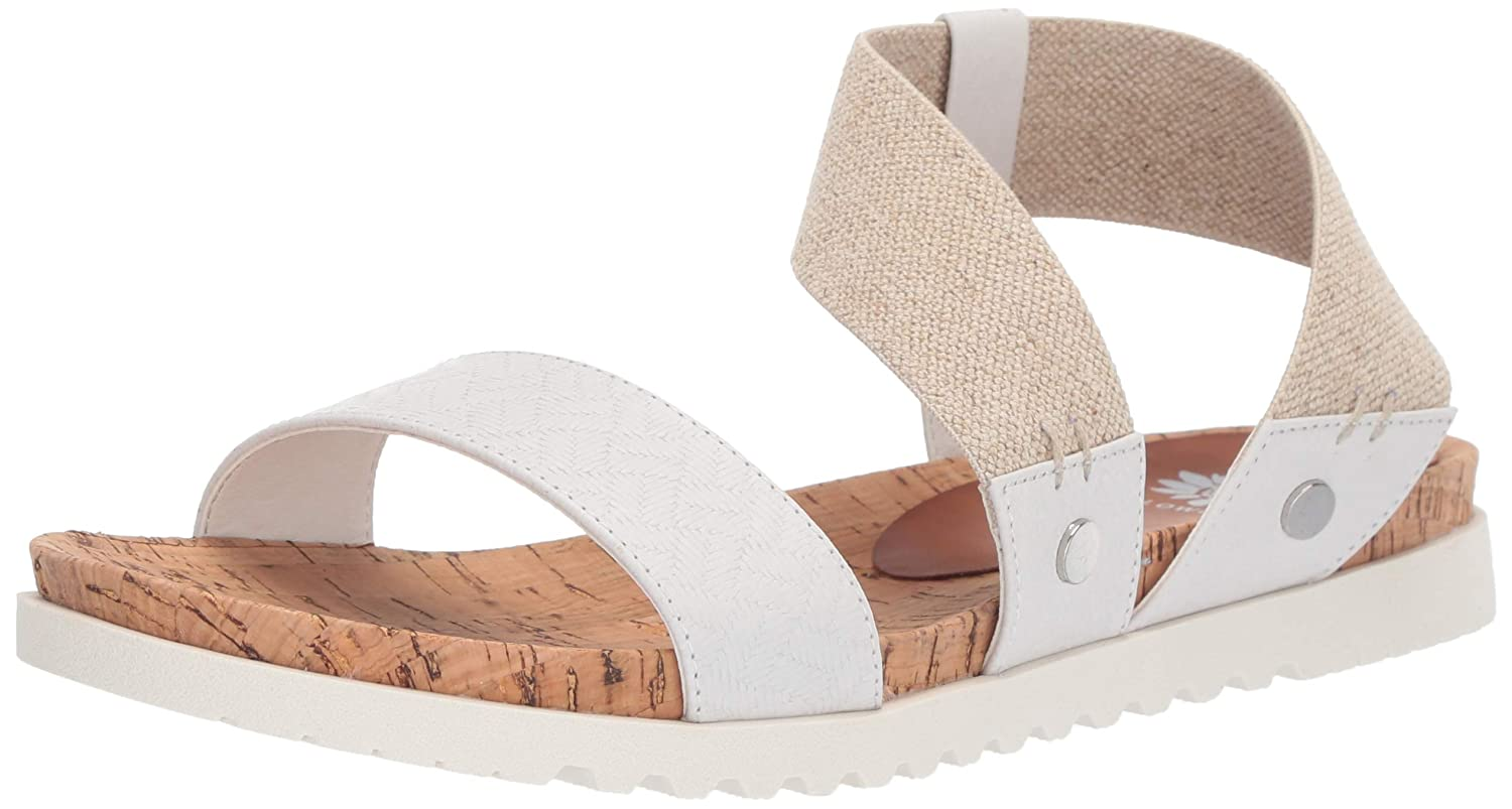 White Yellow Box Womens Meera Flat Sandal