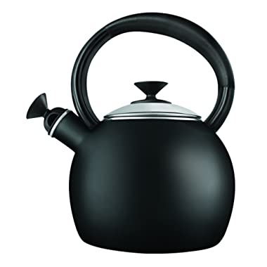 Copco 2503-1041 Camden Enamel-on Steel-Tea Kettle, 1.5-Quart, Black