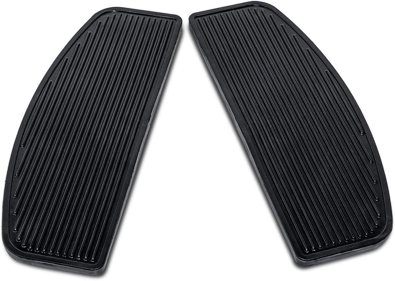 Rubber Front Rider Insert Floorboard Footpeg Footboards for Harley Touring Softail