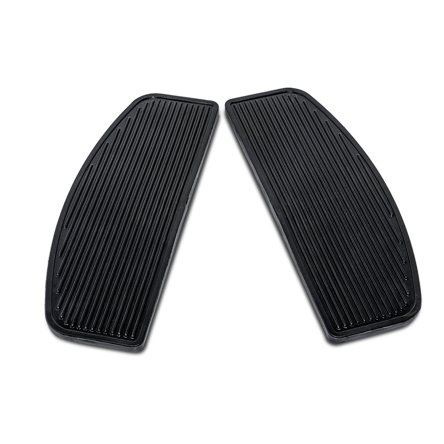 Senkauto Black Front Rubber Rider Insert Floorboard Footboards Foot Peg Boards For Harley Touring Electra Road King Glide by Senkauto