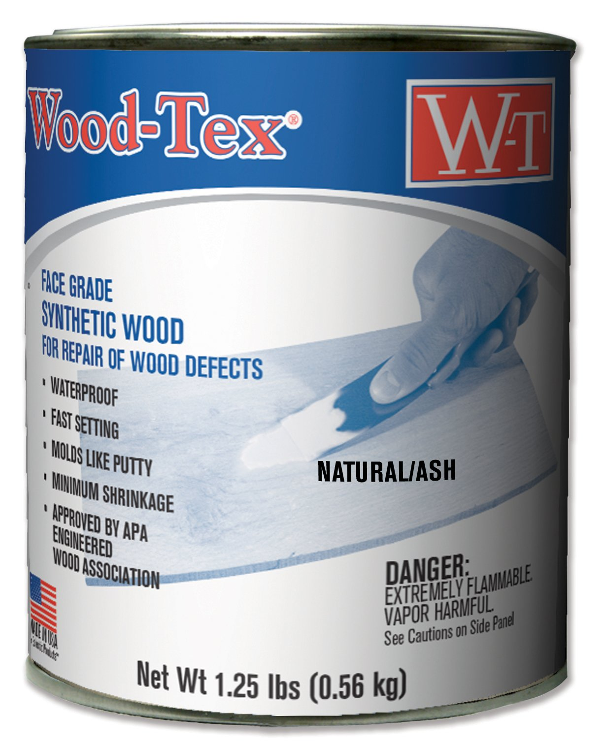 Wood-Tex 34021026 Wood Filler Adhesive - Pint, Natural/Ash