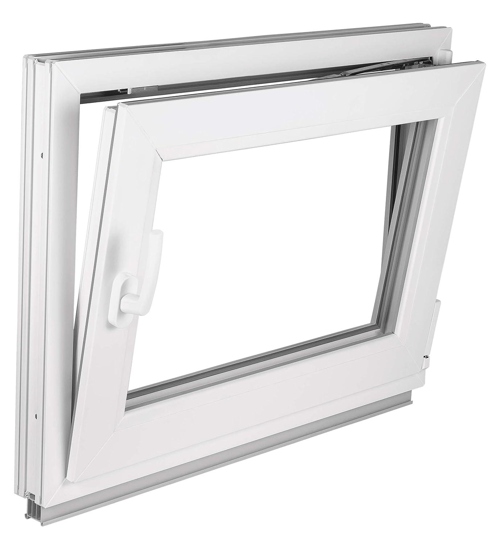 Fenster Kellerfenster Kunststofffenster Breite BxH 60x70 DIN rechts 60 cm 2 fach Verglasung Alle Gr/ö/ßen Dreh Kipp Wei/ß Premium