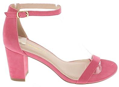 41aa2cb656a7 Shoe Republic Open Toe Block Heel Sandal w Ankle Strap Levante (Coral 7)
