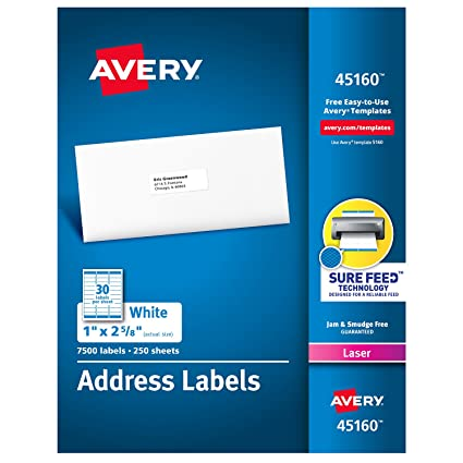 amazon com avery mailing address labels laser printers 7 500
