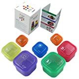 7 PIECE PORTION CONTROL CONTAINER SET - Portion control containers for weight loss - Portion control kit for diet meal preparation - Simple color-coded no-measuring system for healthy living- GAINWELL