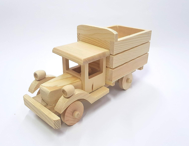 takestop® - RF_64892 - Juguete Decorativo para Coche, camión, de Madera, con Relieve, para decoración de Joyas