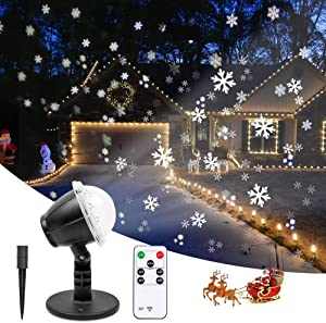 Christmas Projector Lights Outdoor LED Snowflake Projector...