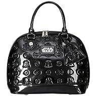 Loungefly Star Wars Darth Vader Darkside Black Patent Embossed Dome Bag
