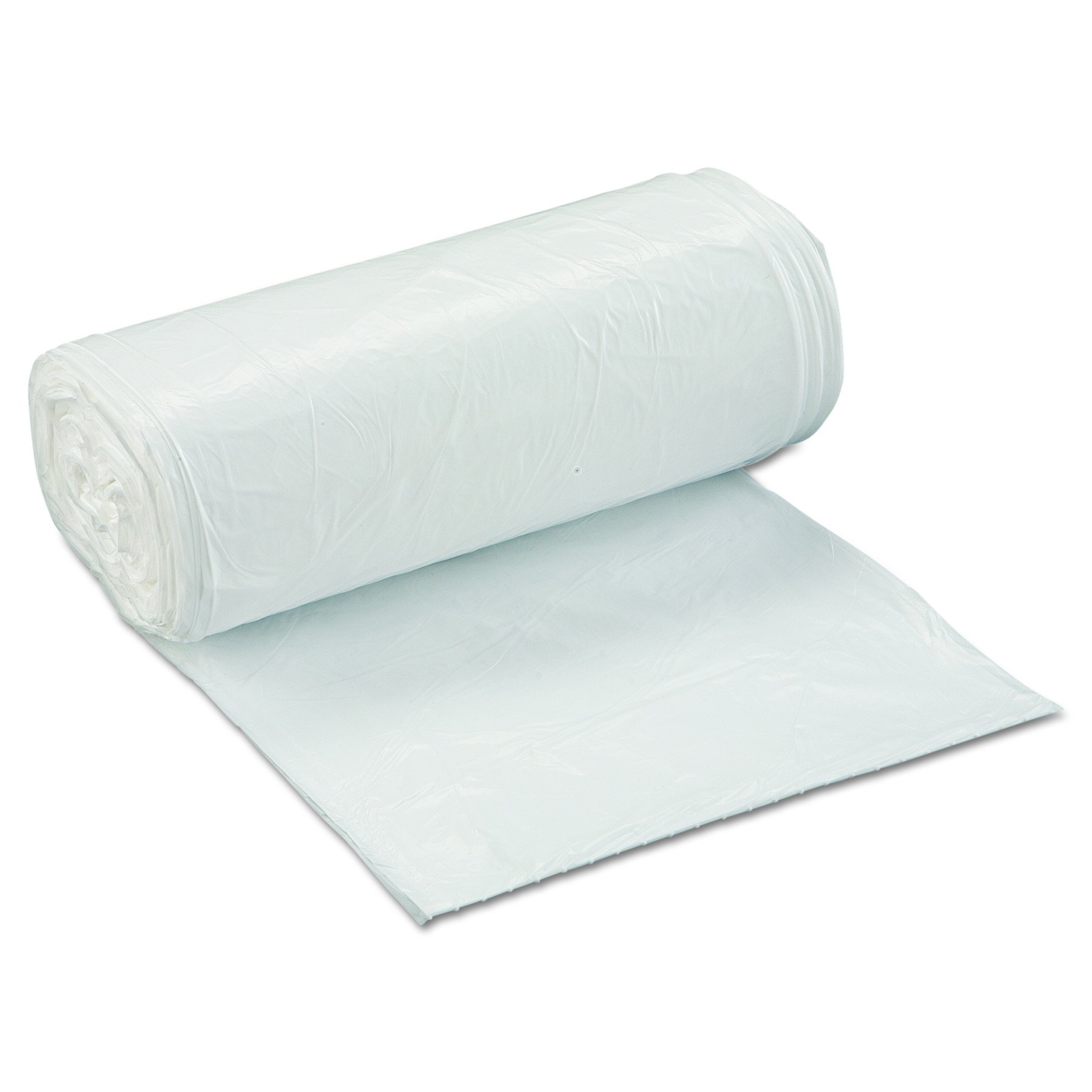 Inteplast Group SL2432XHW Low-Density Can Liner, 24 x 32, 16gal, .5mil, White, Roll of 50 (Case of 10 Rolls) by Inteplast Group (Image #1)