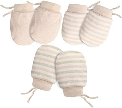2 Or 4 Pairs Baby Mittens Boys Girls Cotton Elasticated Wrist Scratch Mittens 45JTC585