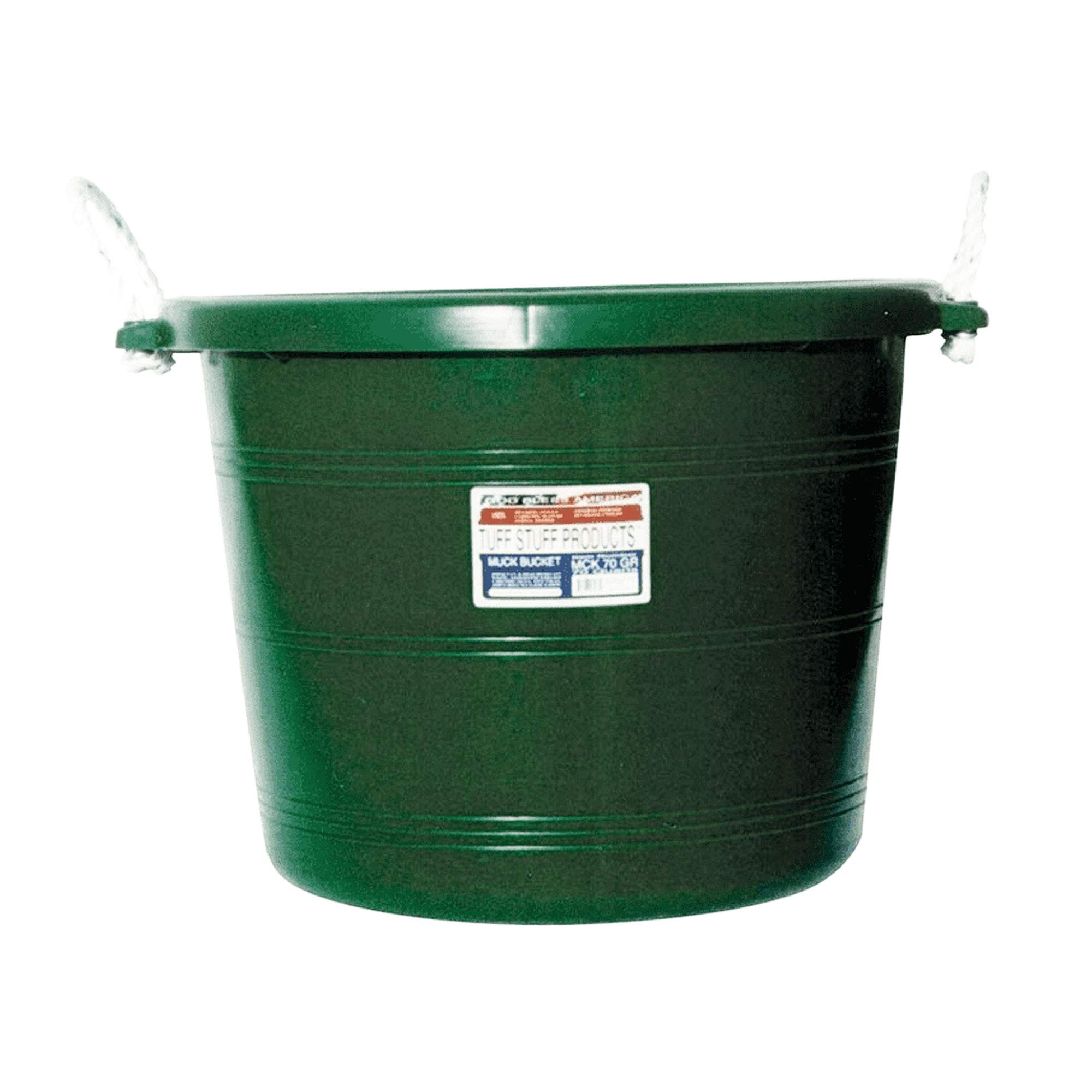 Tuff Stuff Products MCK70GR Large 17.5 Gallon Muck Bucket with Handles, Green by Tuff Stuff