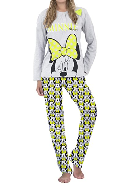Pijama Manga Larga Mujer Disney Minnie Summer, Color Gris Jaspe, Talla L