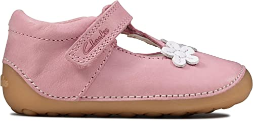 Buy Clarks Pink Tiny Sun T Shoes from