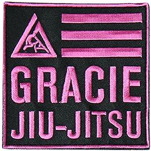Gracie Jiu-Jitsu 4x4 Velcro Patch - Pink