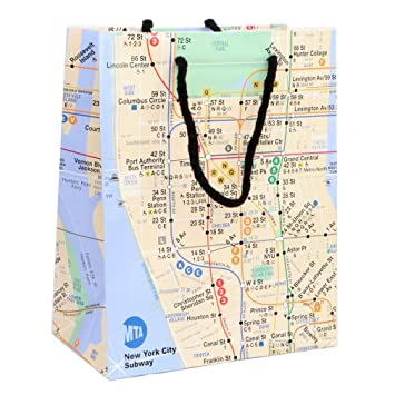Official Ny Subway Map.New York Gift Bag Glossy Paper Subway Gift Bags 8 W X 10 H Official Mta Logo And Map