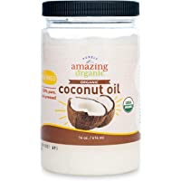 Purely Amazing Organics - Certified Organic Refined Coconut Oil (14 Ounce) Non-GMO Cold Pressed, Great for Skin, Hair…