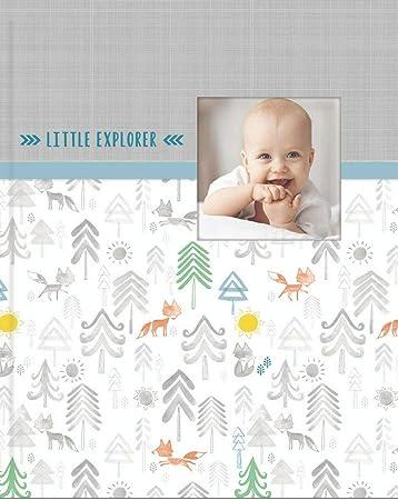 Newborn Shower Gift CR Gibson Baby Boy/'s First Memory Record Book Journal