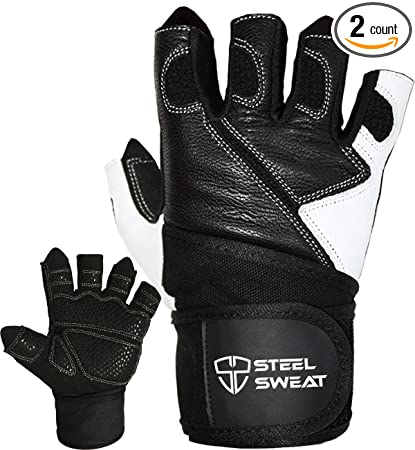 Amazon Com Steel Sweat Weightlifting Gloves 18 Inch Wrist Wrap
