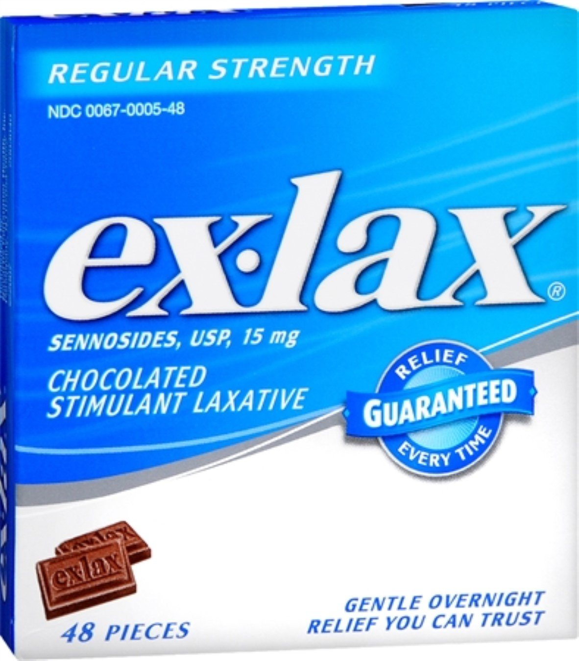 Ex-Lax Pieces Regular Strength 48 Each (Pack of 10)