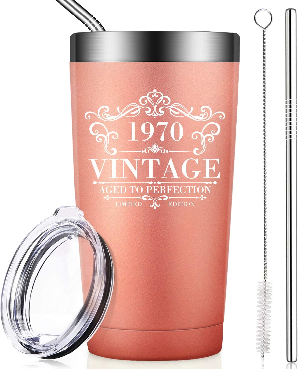 Amazon.com | BIRGILT 1970 50th Birthday Gifts for Women and Men, Funny  Anniversary Gift Ideas for Mom Dad Wife Husband Her Him, Vintage 50 Year  Old Wedding Decorations and Supplies, Tumbler Cup