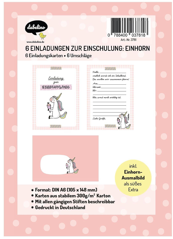 Dabelino Einladung Einschulung 6x Einladungskarten Umschläge Zur