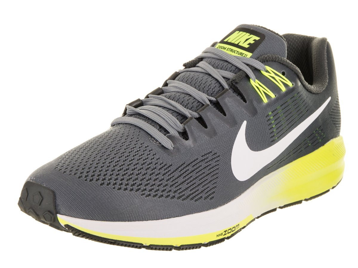 Nike Herren Air Zoom Structure 21 Traillaufschuhe Mehrfarbig (Cool Grey / White / Anthracite / Volt 007)