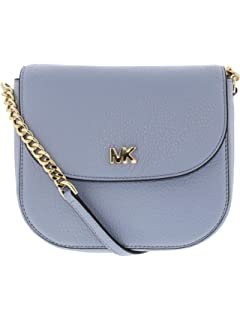 7498814b044e1f MICHAEL by Michael Kors Mercer Pale Blue Leather Accordion Messenger ...