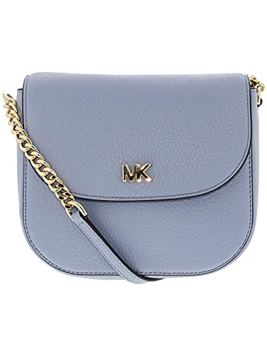 876c73f385ac1d MICHAEL by Michael Kors Mott Pale Blue Leather Dome Crossbody one size  Oyster: Amazon.co.uk: Shoes & Bags