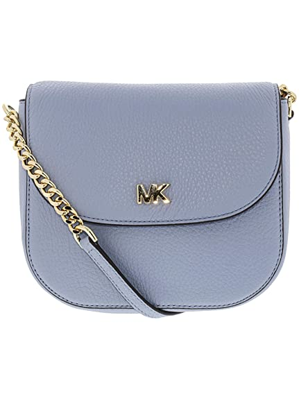 MICHAEL by Michael Kors Mott Pale Blue Leather Dome Crossbody one size  Oyster  Amazon.co.uk  Shoes   Bags 5b137f57d