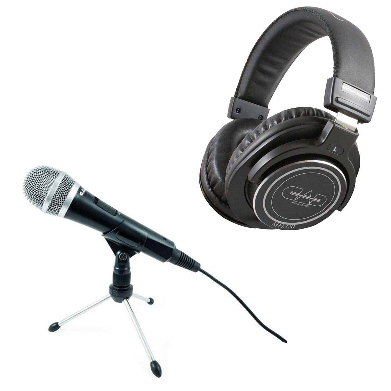 CAD U1 USB Dinámico Profesional Podcast Estudio Micrófono de grabación + CAD Audio MH320 Auriculares cerrados de estudio