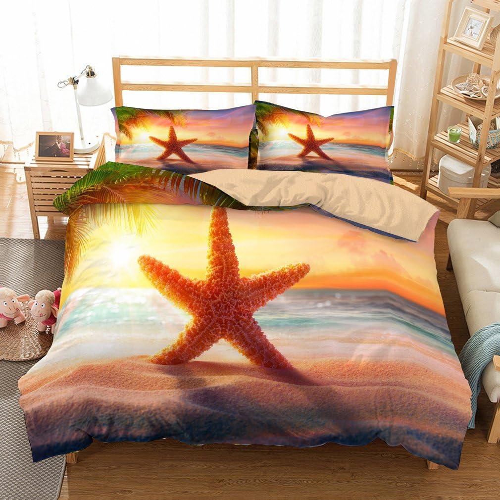 BEACH DREAMS Full Queen QUILT SET SEA SHELL BLUE YELLOW BEACH HOUSE OCEAN