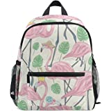 9ad321907b35 ZZKKO Tropical Flamingo Kids Backpack School Book Bag for Toddler Boys Girls