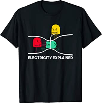 Amazon.com: Funny Electricity Explained Shirt I Teacher Nerd Gift: Clothing