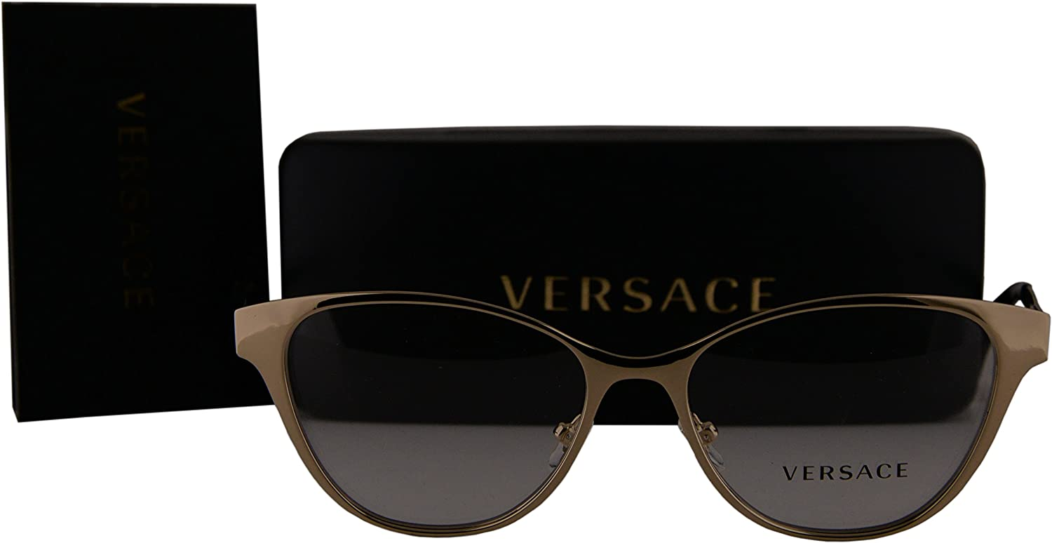 Versace VE1245 Eyeglasses 53-16-140 Pale Gold w//Demo Clear Lens 1252 VE 1245