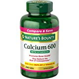 Calcium Carbonate & Vitamin D by Nature's Bounty, Supports Immune Health & Bone Health, 600mg Calcium & 800IU Vitamin D3, 250 Tablets