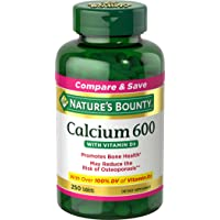 Calcium Carbonate & Vitamin D by Nature's Bounty, Supports Immune Health & Bone...