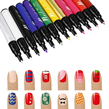 Amazon Molain Nail Art Pen For Diy Nail Designs Manicure Tool