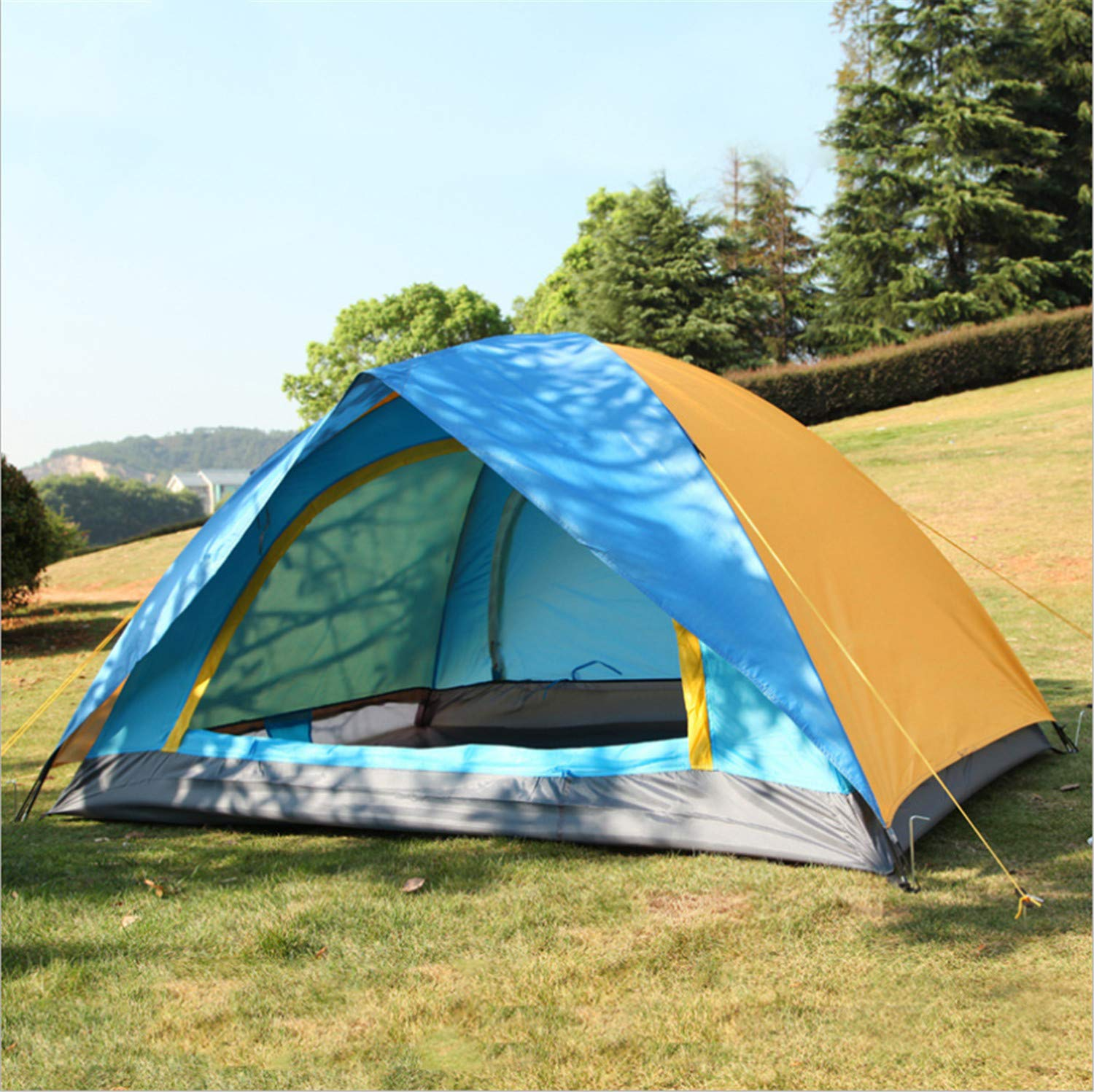 Camping Tent Outdoor Sports DoubleDecker Space Tourism Folding Camp Tents Portable Convenient 2 People