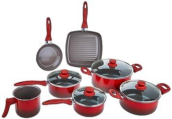 4a485a19b Conjunto Panelas Ceramic Brinox Life Smart Vermelho  Amazon.com.br ...