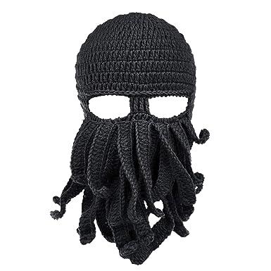 Active 3 Hole Snow Winter Warm Mask Balaclava Black Knit Hat Face Shield Beanie Cap Men's Hats Apparel Accessories