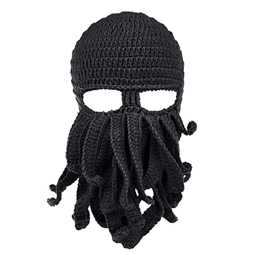 ccf60b1348a Maylisacc Ski Balaclava Face Mask Outdoor Warm Halloween Headwear Unisex  Cthulhu Beanie Hat Black