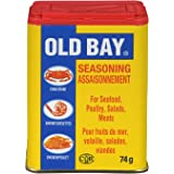 Old Bay, Seasoning for Seafood Poultry Salads Meats, Original Blend, Plastic Can, 74g