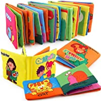 Mumoo Bear 6 Pcs CLOTH BOOK Baby Soft Books for 1-36 month Educational Toy for Boy & Girl, Touch and Feel activity…