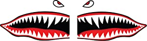"""Flying Tigers Shark Teeth Decals Stickers Multiple Sizes! (18"""")"""