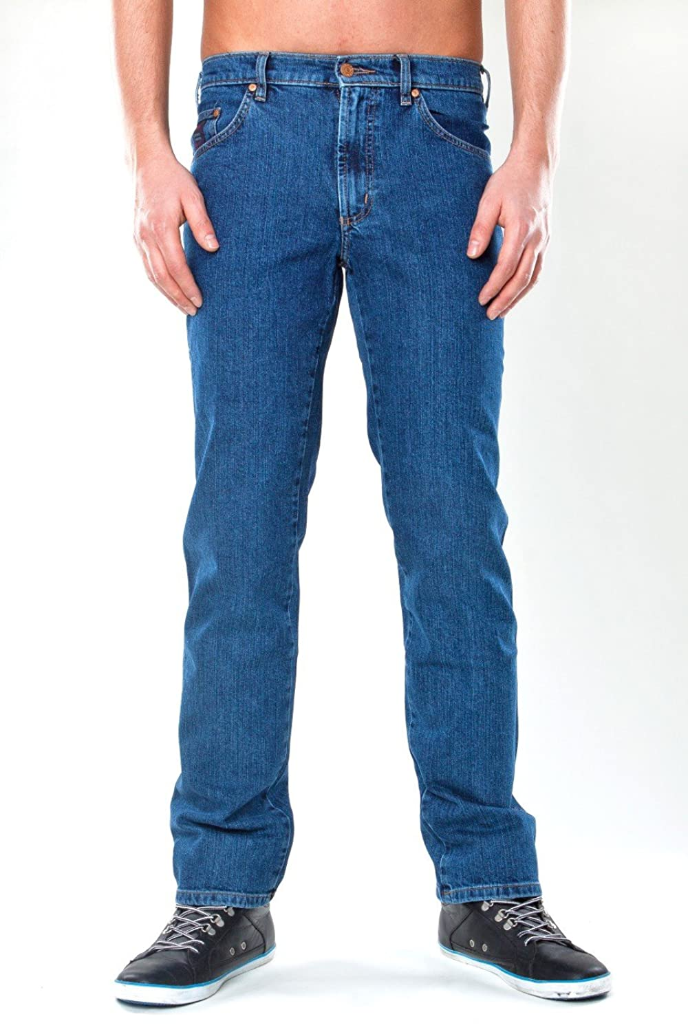 REVILS AUTHENTIC JEANSWEAR Men's Trousers Blue indigo stone washed
