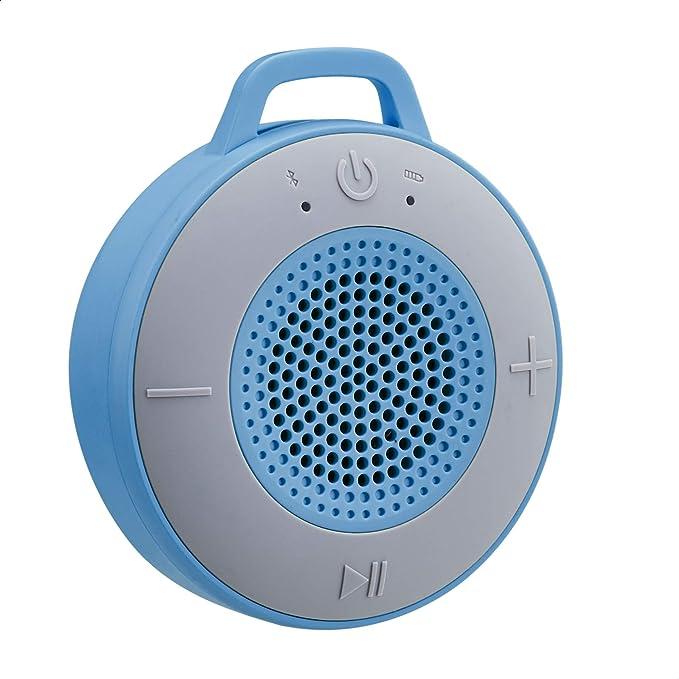 AmazonBasics - Altavoz inalámbrico para ducha, incluye ventosa y micrófono incorporado, de 5 W, azul: Amazon.es: Electrónica
