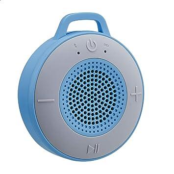 Amazon Basics Kabelloser Dusch Lautsprecher Mit 5 W Treiber Saugnapf Eingebautem Mikrofon Blau Audio Hifi